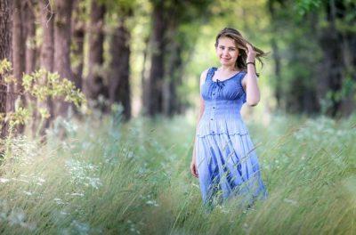 ロマンスタイプの服、ブルー