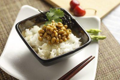 白いご飯と納豆