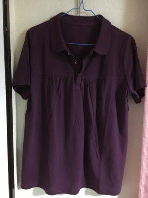 フロントギャザーのポロシャツ