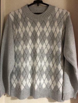 ロマンスタイプのアーガイルチェックセーター