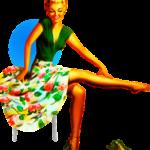 スカートが花柄のドレス