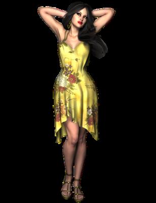変化のある花柄のドレス