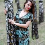椰子模様のドレス