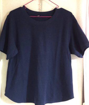 ワッフルTシャツ 紺