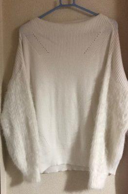 ボリューム袖のニット、ロマンスタイプ