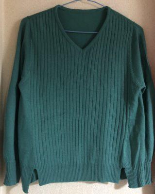 キュートタイプ、グリーンのセーター