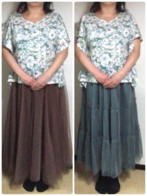GUのスカートもかわいい