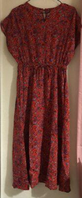 ウォーターメロン色のドレス