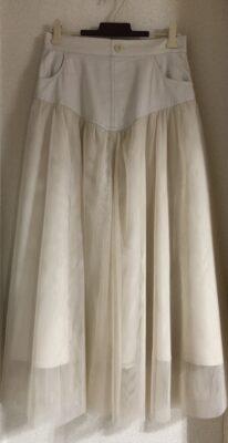 ロマンスタイプのシフォンスカート